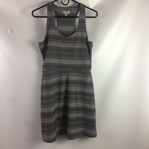 Tehama Gray Stripe Sundress Small Racerback